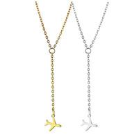 aviões de ouro venda por atacado-Prata ouro Avião Avião Pingente Colar Cadeia de Aeronave Em Camadas Colar Para As Mulheres Minúsculo Dainty Colar de Jóias 162514
