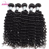 Wholesale Dyed Virgin Deep Weave - Brazilian Deep curly Virgin Hair Weaves 3pcs lot Natural Color Jerry Curly 100% Human Hair Extensions Bundles Can be dyed