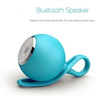 Wholesale New Design Mini Mp3 - Wholesale New design mini wireless bluetooth speaker V2.1+EDR outdoor sports waterproof bluetooth speaker with silicone cover five colors