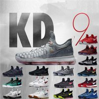 Wholesale Mens Shoes Durant - 2017 Men Shoes Hot Sale KD 9 Mens Casual Shoes KD9 Oreo Grey Wolf Kevin Durant 9s Men's Sneakers Warriors Home US Size 7-12