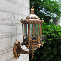 Wholesale European Led Outdoor Wall Lamp - Bronze antique brass IP65 luxary American European outdoor sconce vintage classical waterproof wall light outdoor wall lamp