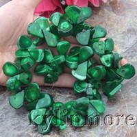 lágrima cuentas de piedras preciosas al por mayor-16x24mm amarillo verde coral lágrima piedras preciosas perlas 14.5