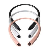 csr usb toptan satış-Yeni HBS-910 HBS 910 CSR 4.0 Ton Infinim Kablosuz Bluetooth Kulaklıklar Spor Boyun Bandı Kulaklık Handsfree iphone7 için HBS910