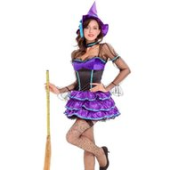 Costume di Halloween Cosplay adulto Magia strega vestire Wow Witch Wow Dress Up Costume Sexy Mini Dress