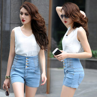 Wholesale Denim shorts female high waisted denim shorts womens high waisted denim shorts new arrivals short jeans high waist