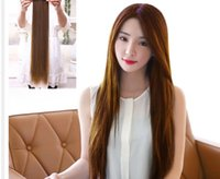 Wholesale Korean Long Straight Hair - Woman Straight hair piece Korean woman Long straight hair #L04711