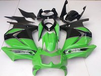 Wholesale New ABS Injection Fairings set Fit For kawasaki Ninja250r EX250 ZX250R R black green