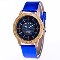 Wholesale bamboo band - Wood Watch for Men Women Bamboo Quartz luxury brand Watches With Scale Soft Leather Straps Band Casual Wristwatch reloj
