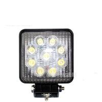 ingrosso automotive led lights-Luci di lavoro automobilistiche 1800LM 27W Luce ad alta potenza 9X 3W Bead LED luce da lavoro Square Offroad LED car Work Light bar