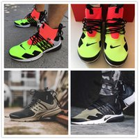 Wholesale X Volt - New 2017 ACRONYM x Air Presto Mid ZIP Mens Running Shoes Sportswear vibrant Hot Lava Volt Sports Shoes Size 40-45