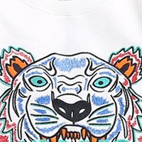 Wholesale Cheap Long Tee Shirts - Cheap Tiger Head Print T Shirt for Women Man Summer Short Sleeve Brand Tops Lovers Knitted Cotton Tees Girls Black Color Tiger Design