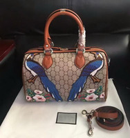Wholesale Colourful Flowers - New style high quality women brand fashion leather Embroidery Flowers Floral colourful handbag shoulder bag totes Cross Body 409527