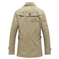 тонкое короткое пальто оптовых-Wholesale- 100% Cotton Mens Short Trench Coat Solid Mens Overcoat Casual Men'S Coat Slim Fit  Clothing 2016 Male Clothing SMS0022-5