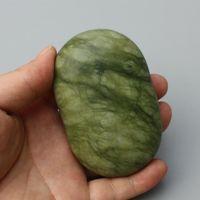 jade de azeitona venda por atacado-HIMABM 1 Pcs Natural Jade Pedra De Basalto SPA Massagem para Relaxar Saúde Chakra Corpo Reiking Cura Pedra Ferramenta de Saúde