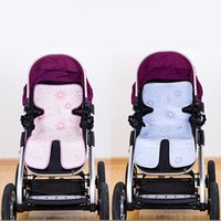Wholesale Infant Car Seats Sale - Wholesale- Hot Sale New Summer Baby Ice Silk Mat Baby Stroller Mat Thickening Baby Car Seat Pad Infant Stroller Seat Cover 2 Optional Color