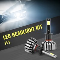 Wholesale 881 bulb online - H1 H7 LED Headlight Bulbs With Advanced Waterproof Super Bright COB LED Light All in One Conversion Kit Of