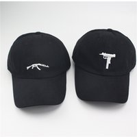 Wholesale Ak47 Free - UZI Gun Baseball Caps Ak47 Snapback Hip Hop Dad Hat Cap Women Men Brand Sports Bones High Sun Snapback
