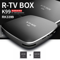 K99 RK3399 Caixa de TV Android 6.0 4GB 32GB 6-Core 3D 4K Smart TV Boxes HD Dual WiFi Bluetooth 4.0 USB 3.0 Tipo-C Google Streaming Media Player