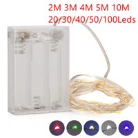 Wholesale battery operated mini led christmas lights for sale - Group buy Umlight1688 AA Battery Operated M Led String Mini LED Copper Wire String Fairy Light Christmas Xmas Home Party Decoration Light Warm