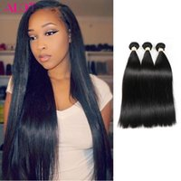 ALOT Hair Brazilian Indian Peruvian Malaysian Straight Hair 3 Bundles Mix Length 100% Cabelo Humano 100% Unprocessed Extensions 8-28 Inch