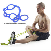 Wholesale Professional Workout - Men and Women Resistant Bands Professional GYM Chest Expander Bands Fitness Workout Yoga Rubber Tensile Pull Exercise Rope KKA2339
