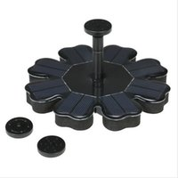 Wholesale Pumps Garden - Solar Powered Fountain Solar Panel Water Floating Fountain 8V 1.6W Brushless Water Pump Kit for Bird Bath Pond Garden