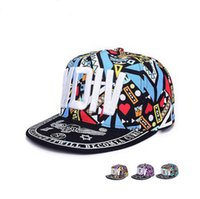 Wholesale sale Spring and summer graffiti hip hop hats male ladies nightclubs along the baseball hats leisure hoods street hats WMB005
