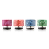 Wholesale Wood O Ring - Top Grade TFV8 Stabilized Wood Drip Tips Dual O Rings for Smok TFV8 Tornado Griffinn 25 atomizer Vaporizer e cigarettes