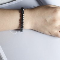 Wholesale Magnetic Elastic Bracelet - Special price Simple Beaded Elastic Magnetic Bracelet Black Bile Magnetic Healthcare Hand Ornament