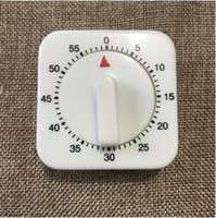 Wholesale Wholesale Mechanical Timers - White Kitchen Square Timers 60 Minute Mechanical Timer Reminder Counting Kitchen Timers Kitchen Tools CCA7503 100pcs
