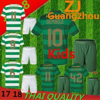 Wholesale Celtic Kits - Kids set 2017 2018 Scotland Celtic jersey 17 18 Home away DEMBELE GRIFFITHS LUSTIG BROWN youth child kits shirt