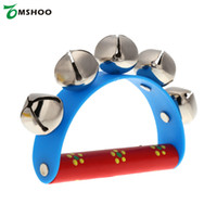 Venta al por mayor- Little Hand Held Tambourine Bell Metal Jingles Ball Percusión Toy Musical para KTV Party Kids Juego