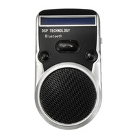 Atacado- Alta qualidade Solar Powered Bluetooth Handsfree Car Kit Digtal LCD Speaker com microfone para celular Dial