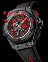 Wholesale 48mm Quartz - The latest version watch NEW 3716.CI.1129. 48mm Black Leather Strap Bands Black Dial japan quartz Men's wristwatches