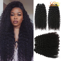Wholesale high quality virgin hair - Indian Kinky Curly Virgin Hair Extension Wholesale Price Deep Curly Human Hair Weft High Quality Curly Weave Natural Color Can Be Dyed