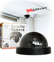 Dummy Camera Dome Fake Cameras Outside Indoor Virtual Simulation Caméra de surveillance CCTV Caméra de sécurité Flashing LED rouge pour la sécurité
