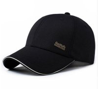 Wholesale Snapback Simple - 2017 Mens Spring Adjustable Cotton Fitted Baseball Caps Male Simple Black Formal Snapback Dad Hat Fashion Breathable Truck Hats
