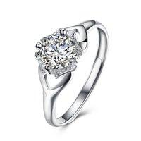 commande de bijoux achat en gros de-Anneaux de pierres précieuses pour les femmes en argent sterling 925 anneaux de zircon 36 style bijoux de mode mélange livraison gratuite