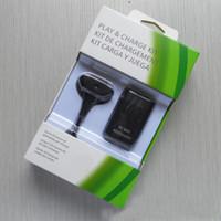 xbox ücret kiti toptan satış-Kablosuz Kolu Pil Paketi 2in1 XBOX 360 için Şarj Kiti 4800 M Pil Paketi