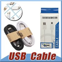 Wholesale Iphone Sync Cable Boxed - 1M 3FT Micro USB Data Sync Charge Cord Cable Adapter Wire Charger Cable For i 5 6 6S 7 Samsung Galaxy Note 7 5 S7 S6 edge with Retail Box