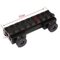 "Wholesale Ar Picatinny - Hunting AR Flat Top 1 2(0.5)"" aluminum 8-Slot Compact Riser Mount Picatinny Rail"