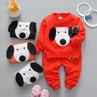 Wholesale Style Kids Outfits - Kids Boys Cartoon Sets 2017 Spring Baby Boy Full Sleeve T-shirts + pants 2pcs Outfits Boys Sports Sweatshirts Suits Children Outwear Clothes