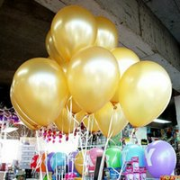 Latex Balloon Gold Pas Cher-100pcs / Lot 1.5g Pearl Latex Balloons Décorations de mariage en or Événement Party Supplies Baby Shower Happy Birthday Décoration