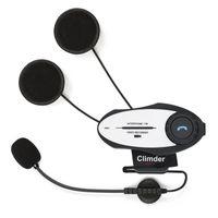 Wholesale Handsfree Camera - Wholesale- 500M Handsfree BT Interphone MP3 FM Radio Full HD 720P Video Recording Camera Motorcycle Bluetooth Headset Helmet Intercom