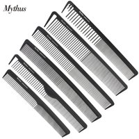Wholesale Comb Hair Carbon - 6 Designs Professional Heat Resistant Carbon Comb Set Black Haircut Barber Comb In Carbon Fibre M-06