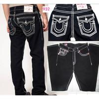 Wholesale Cotton Twill Pants - wholesale Good quality NEW hot Men's Robin Rock Revival Jeans Crystal Studs Denim Pants Designer Trousers Men's size 30-40