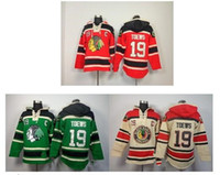 Wholesale Fleece Outlet - Factory Outlet- free shipping Chicago Blackhawks Jerseys Chicago Blackhawks #19 Jonathan Toews Red Home Old Time Hockey Fleece Hoodie