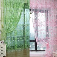 Chic Camera Floral Pattern Voile Window Tenda Sheer Voile Panel Drape tende lisce