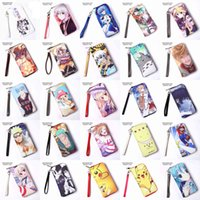 Wholesale Pink Miku - More Than 60 Styles Anime Miku, One Piece, Hitman Reborn, Totoro, Date A Live, Naruto, etc Long Portable Wallets Cell Phone Clutch Purses