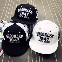 Wholesale New York Hip Hop Caps - 1947 Brooklyn Style Baseball Cap Sport Hat Gorras Planas Snapback Caps New York Hip Hop Hats Snapbacks Casquette Polo Cap